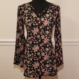 Express Black Flower Dress